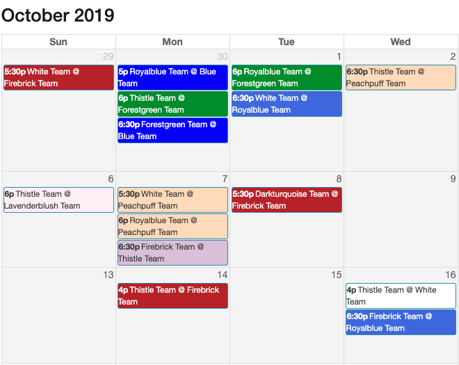 Generateschedule