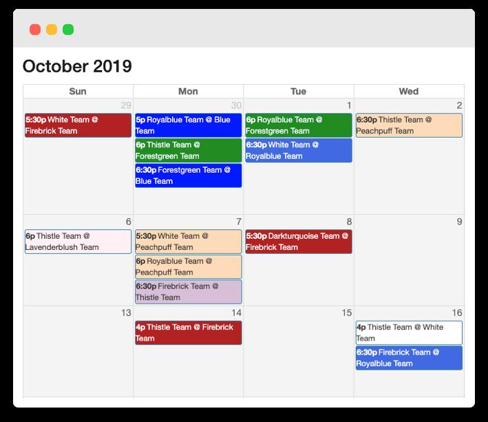 Schedule browser
